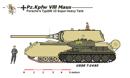 Maus V2 and T34-85 by tacrn1