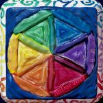 Painted Clay Seed of Life on Wood by AliDee33