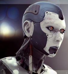 Cyborg Female Composite by lancewilkinson