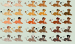 HUGE cub adopt set! 1/30 OPEN - 80 points each by Nala15