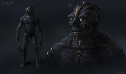 Alien Humanoid Concept by Cloister