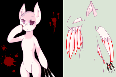 Pony With Knives Base (MS-Paint Friendly Version) by zX-ShadowLugia111-Xz