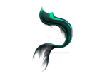 Mermaid Tail Sea Green Shaded Png-P2U by AKoukis