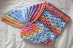Rainbow Baby Mermaid Tail by fourthimbles