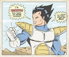 VEGETA PRINCE OF SAIYANS by paintmarvels