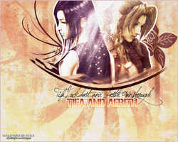 Tifa and Aerith wallpaper by ladylucienne