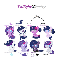 TwilightXRarity OTA Adoptables by Buff-Spud