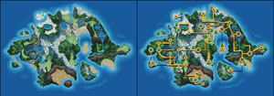 Nameless Pokemon Region Map by Wooded-Wolf