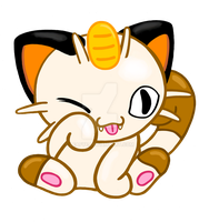 Commission Me :3 Chibi Meowth by Leafye