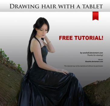 Drawing hair with a tablet by sara-hel