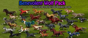 Benevolent Wolf Pack by MoscoMoon