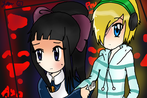 Pewdiepie and Aya ~Mad Father~ by Yannie-chan