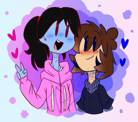 GIFT - Two Artzy Dorks by Kaci-the-Taylented
