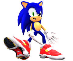 Sonic's New Soap Shoes Render by Nibroc-Rock