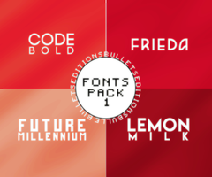 i. FONTS PACK by BULLETSEDITIONS
