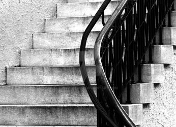 Stairs and Rail by ericthom57