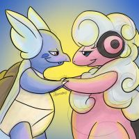 Wartortle and Flaaffy