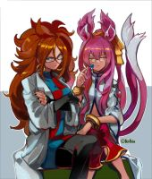 Android 21 And Kokonoe Mad Scientists by Ddrake13