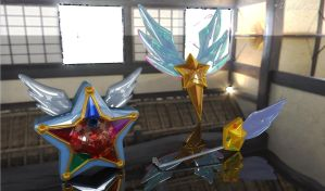 Sailor Starlights Yell, Headset, Brooch? 3D #2 by digitalAuge