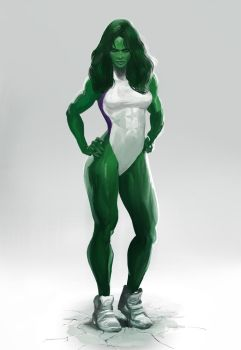 She-Hulk Concept Art by ExecutiveOrder9066