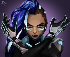 Overwatch - Sombra - Cyberspace by KiwiStarling