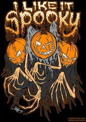I Like It Spooky T-Shirt Desig by SavageSinister