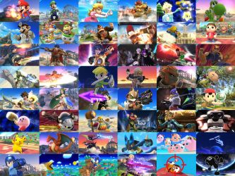 Super Smash Bros. Wii U/3DS Character Shots by PacDuck
