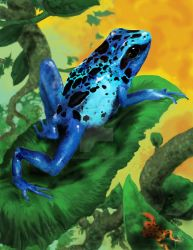 Blue Poison Dart Frog by rjparamonte