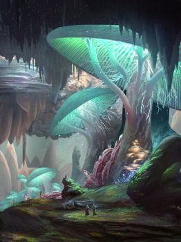 Iz'Kal Caverns by JamesCombridge