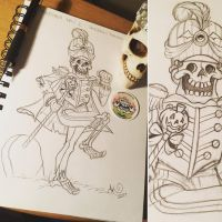 Drawtober Day 1: Skeleton Parade by MissInfected