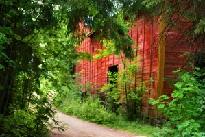 Old barn in the middle of the forest by KariLiimatainen