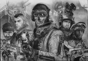 Modern Warfare Poster Finished by Yankeestyle94