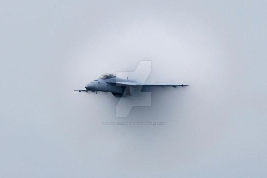 F-18 Tearing Through by SplitSecondStudio