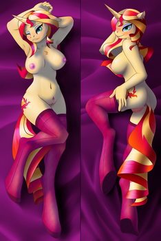 Sunset Shimmer Body Pillow by BlankSpirit