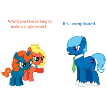 WHY'D YOU TAKE SO LONG!! by MLP-Element