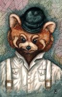 A Clockwork Red Panda by MariAnrua