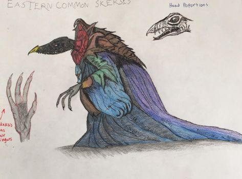 Eastern Common Skeksis Drawing  by Dragonfire810