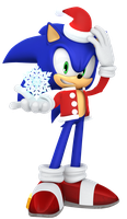 2016 Christmas Sonic Render by JaysonJeanChannel