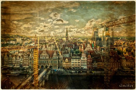 Gdansk from the bird's eye view by wiwaldi24