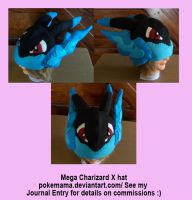 Mega Charizard X hat by PokeMama
