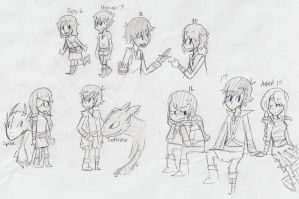 Hiccup and Pipsqueak-Time Line by sailor663
