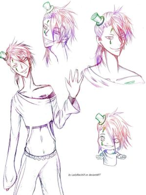 Simple sketches about my Takero *__* by LadyBlackKill