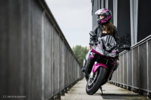 Bikergirl by CLMotography