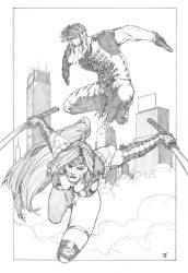 Commission : WildCATs Zealot and Grifter by ThomasBlakeArtist