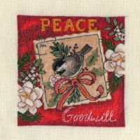 Peace Ornament cross stitch by lovebiser