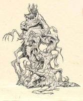 The Thing - concept drawings 2 by Kaduflyer