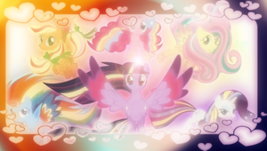 Rainbow Power PSP Wallpaper by SailorTrekkie92