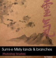 Sumie-Misty lands and branches by Coreaux