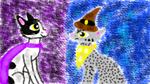 Cornish Rex and Egyptian Mau - Enemies - Tablet by Zonoya717