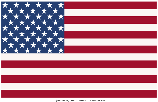 American Flag - Large by Craftykid